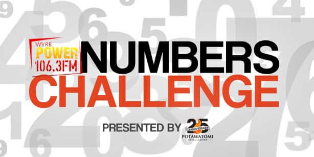 Power 106 Numbers Challenge