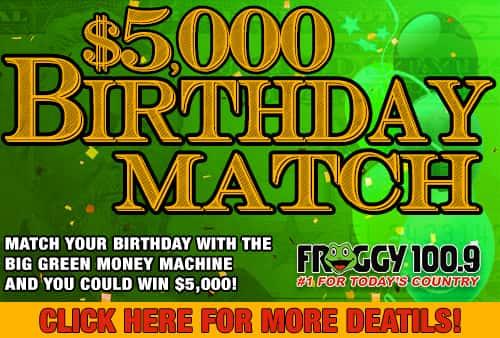 $5,000 BIRTHDAY MATCH 161018
