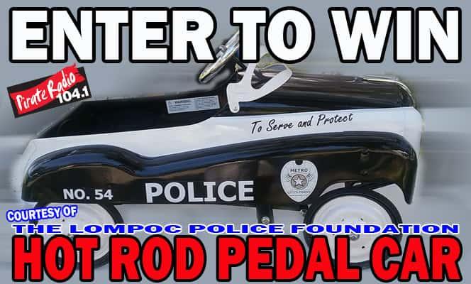 Lompoc PD Hot Rod Pedal Car KBOX - Lompoc car show