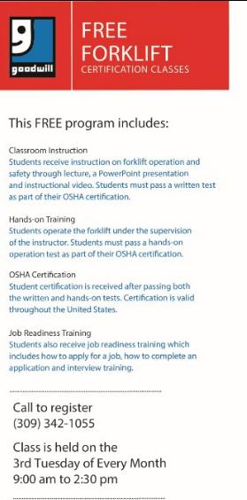 OSHA Safety Forklift Certification | 105.3 KFM
