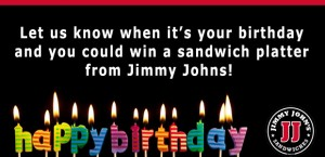 jimmy johns birthday