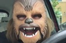 this-woman-is-so-happy-about-finding-this-chewbacca-mask-that-its-hard-not-to-get-excited-right-along-with-her