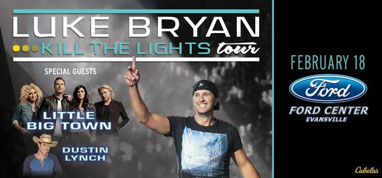 Luke Bryan at Ford Center, Evansville, IN