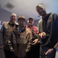 Steve Priebe, Colton Priebe, Bob Priebe, and Kent Z!