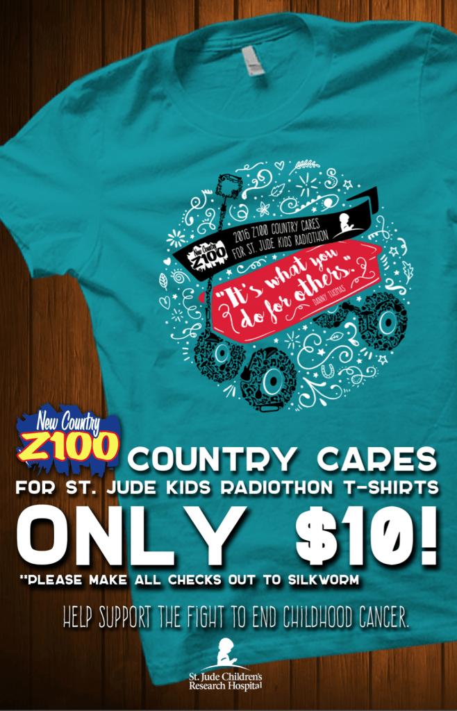 2016 Z100 St. Jude T-shirts