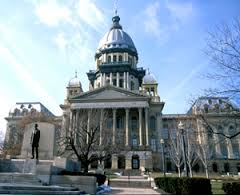 Illinois State Capitol Building in Springfield Illinois.