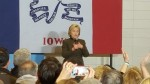 Democratic Presidential Candidate Hillary Clinton in Keokuk on January 28, 2016.