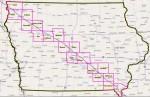 A map of the DAPL (Dakota Access Pipe Line) pipeline route through Iowa.