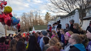 Vigil for 16-year-old Kedarie Johnson, located on 5th and Walnut Street, on March 5th,  included hundreds of friends and family.