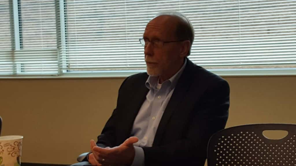 Loebsack speaks during a June meeting.