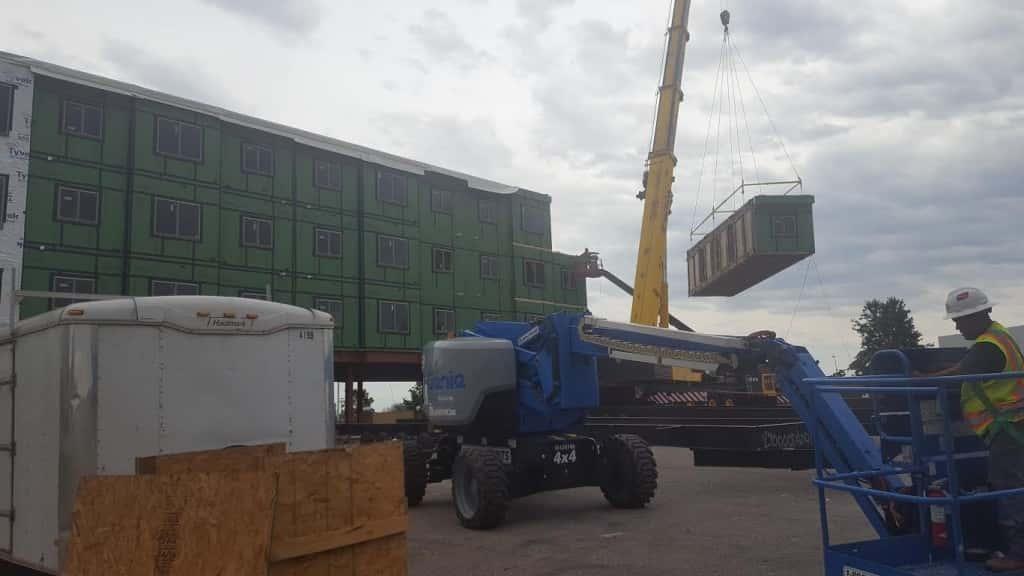 The new SCC Dorm complex under construction at SCC's West Burlington Campus.