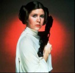 Fisher as Princess Leia in a promotional image for 'Star Wars'