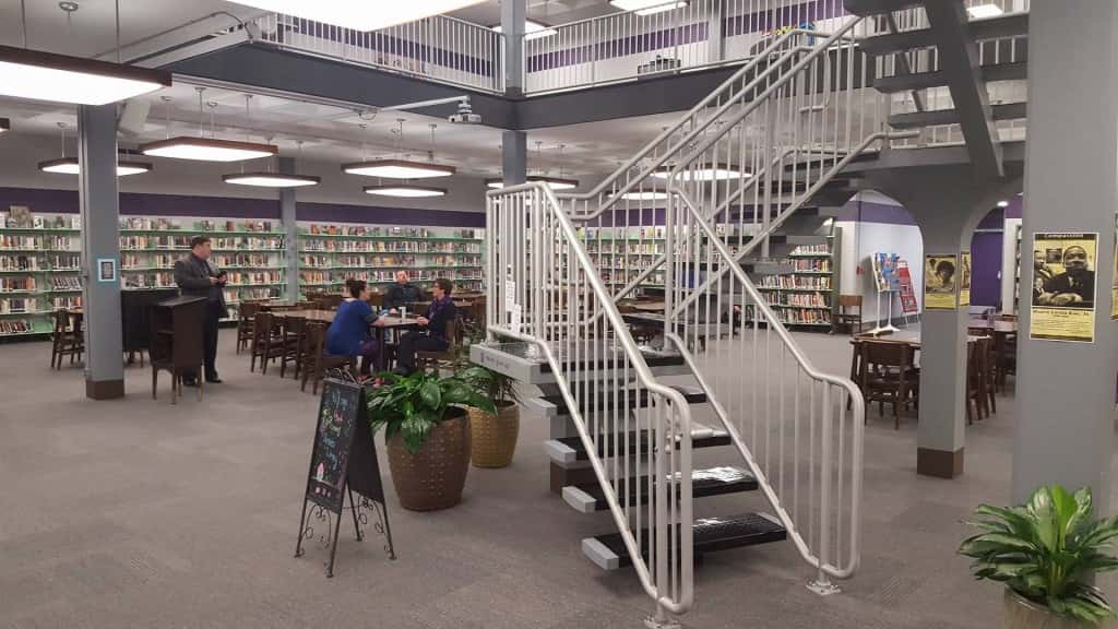 The newly renovated BHS Library