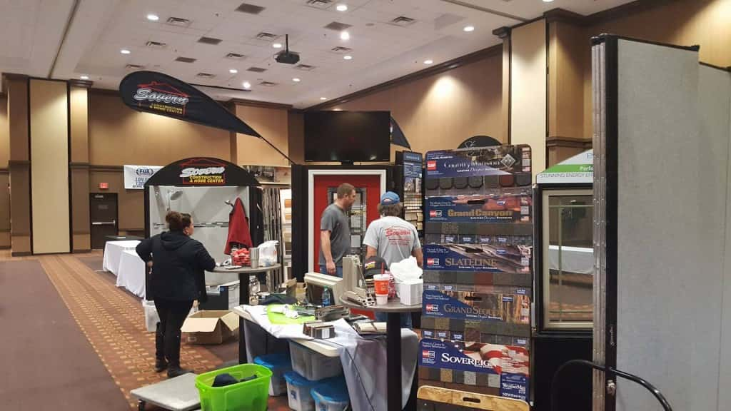 Vendors set up at Pzazz! Convention and Event Center