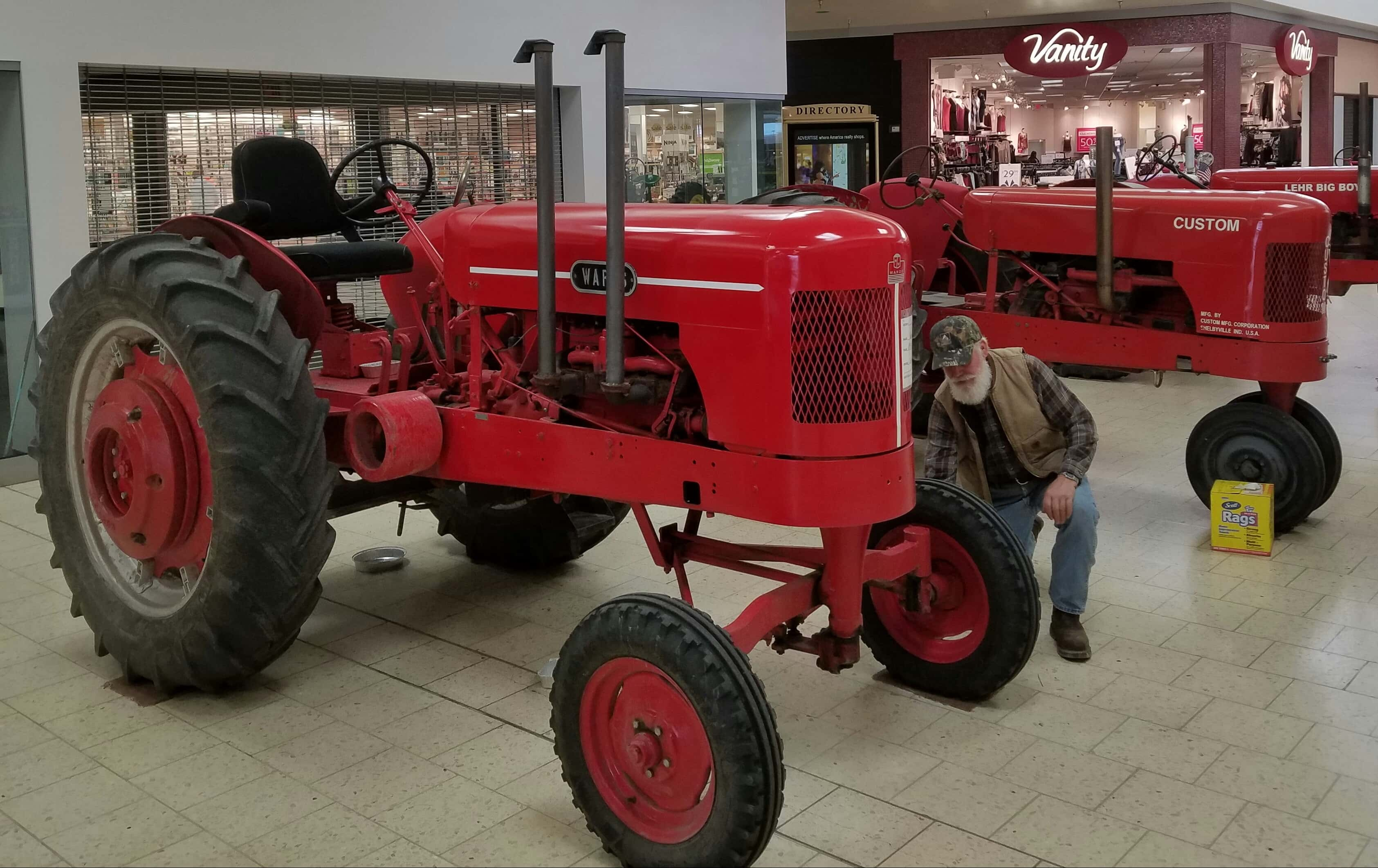Antique Tractor Shows : Tractors on display at westland mall antique tractor