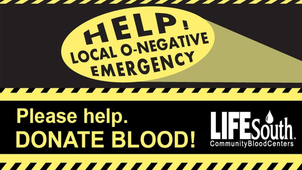 LifeSouth O-Neg Emergency