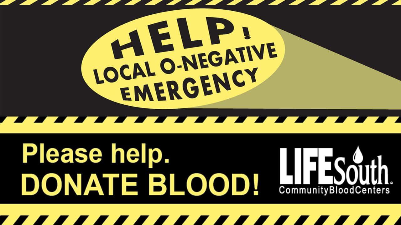 LifeSouth O-Neg Emergency
