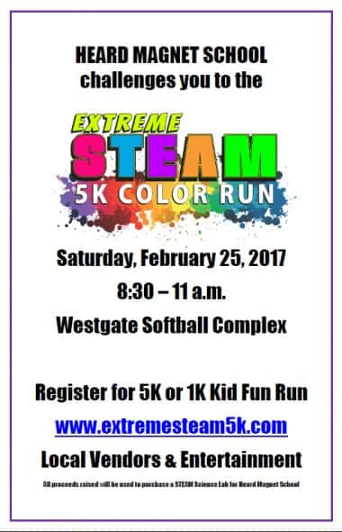 Heard STEAM Color Run Poster