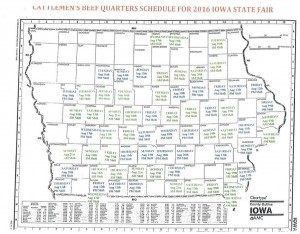 Iowa Cattlemen's map