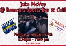 Jake McVey @ Rumours 2017