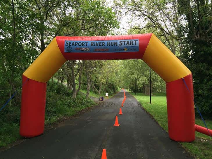 Starting line @ the 39th annual Seaport River Run.