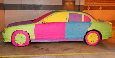 Cover someone\'s car with Post Its.