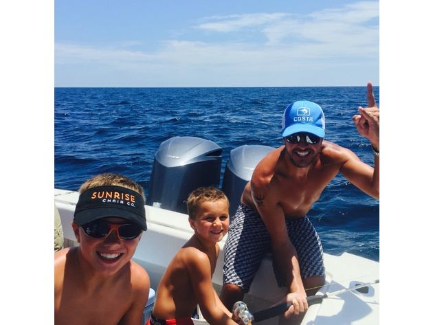 Luke Bryan & his sons Bo & Tate