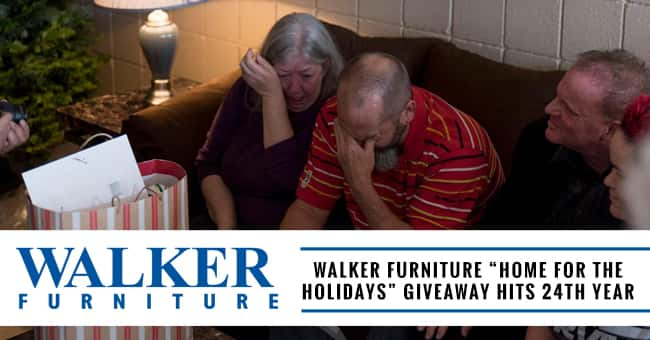 """Walker Furniture """"Home of the Holidays"""" giveaway hits 24th year"""