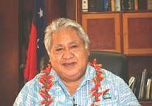 Western Samoa's current Prime Minister, Tuilaepa Aiono Sailele Malielegaoi.