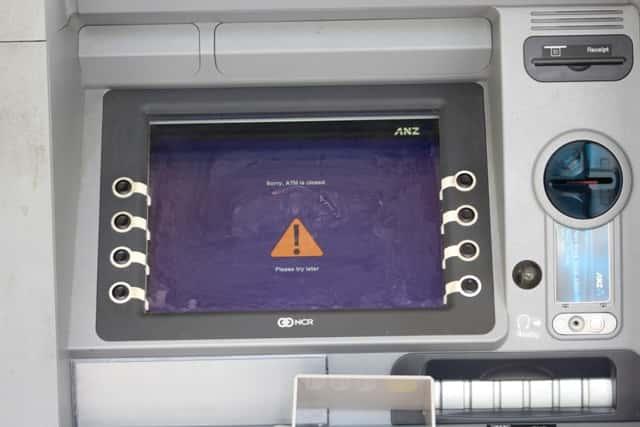ANZ ATM closed