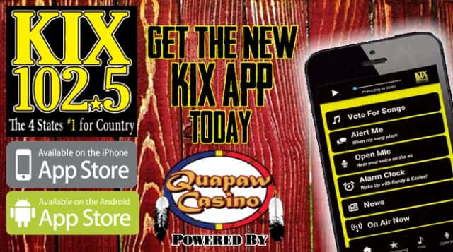 KIX App Sponsor Quapaw Casino