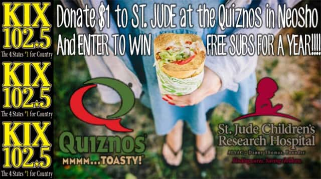 Quiznos Neosho for St Jude 02-07-17