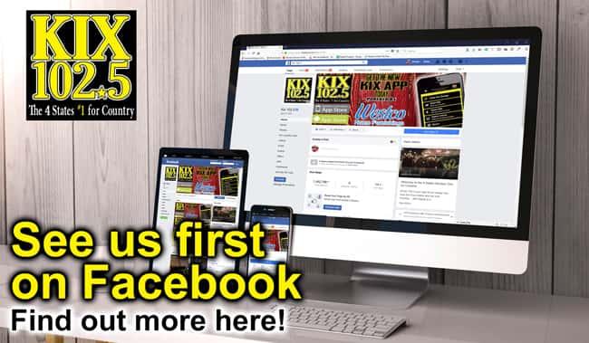 See KIX 102.5 first on Facebook