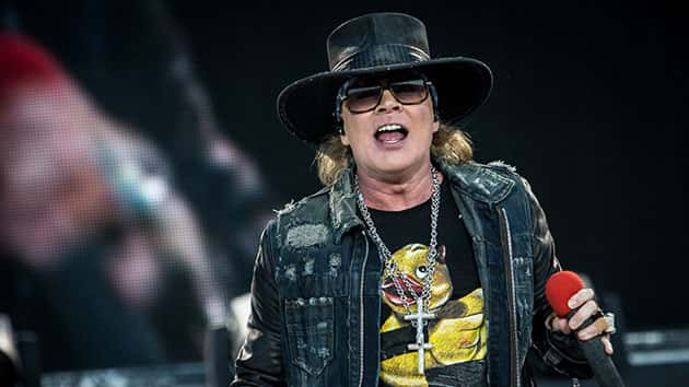 Axl Rose; Francesco Castaldo/Archivio Francesco Castaldo/Mondadori Portfolio via Getty Images