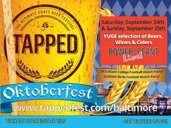 Tapped craft beer fest at power plant live 98 rock baltimore for Baltimore craft beer festival
