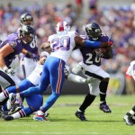 Ravens Running Back Terrance West attempts to shake off a tackler (Photo by Baltimore Ravens)