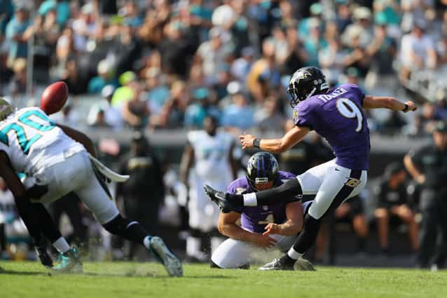 Justin Tucker kicks - Photo by the Baltimore Ravens