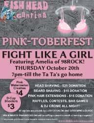 Fish head cantina pink toberfest amelia 98 rock baltimore for Fish head cantina menu