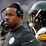 BALTIMORE, MD - DECEMBER 27, 2015: Linebackers coach Joey Porter of the Pittsburgh Steelers watches the action from the sideline during a game against the Baltimore Ravens on December 27, 2015 at M&T Bank Stadium in Baltimore, Maryland. Baltimore won 20-17. (Photo by: Nick Cammett/Diamond Images/Getty Images)