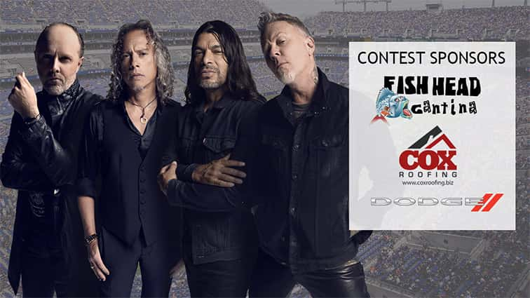 Listen to win metallica tickets with meet and greet and vip listen to win metallica tickets with meet and greet and vip experience m4hsunfo Gallery