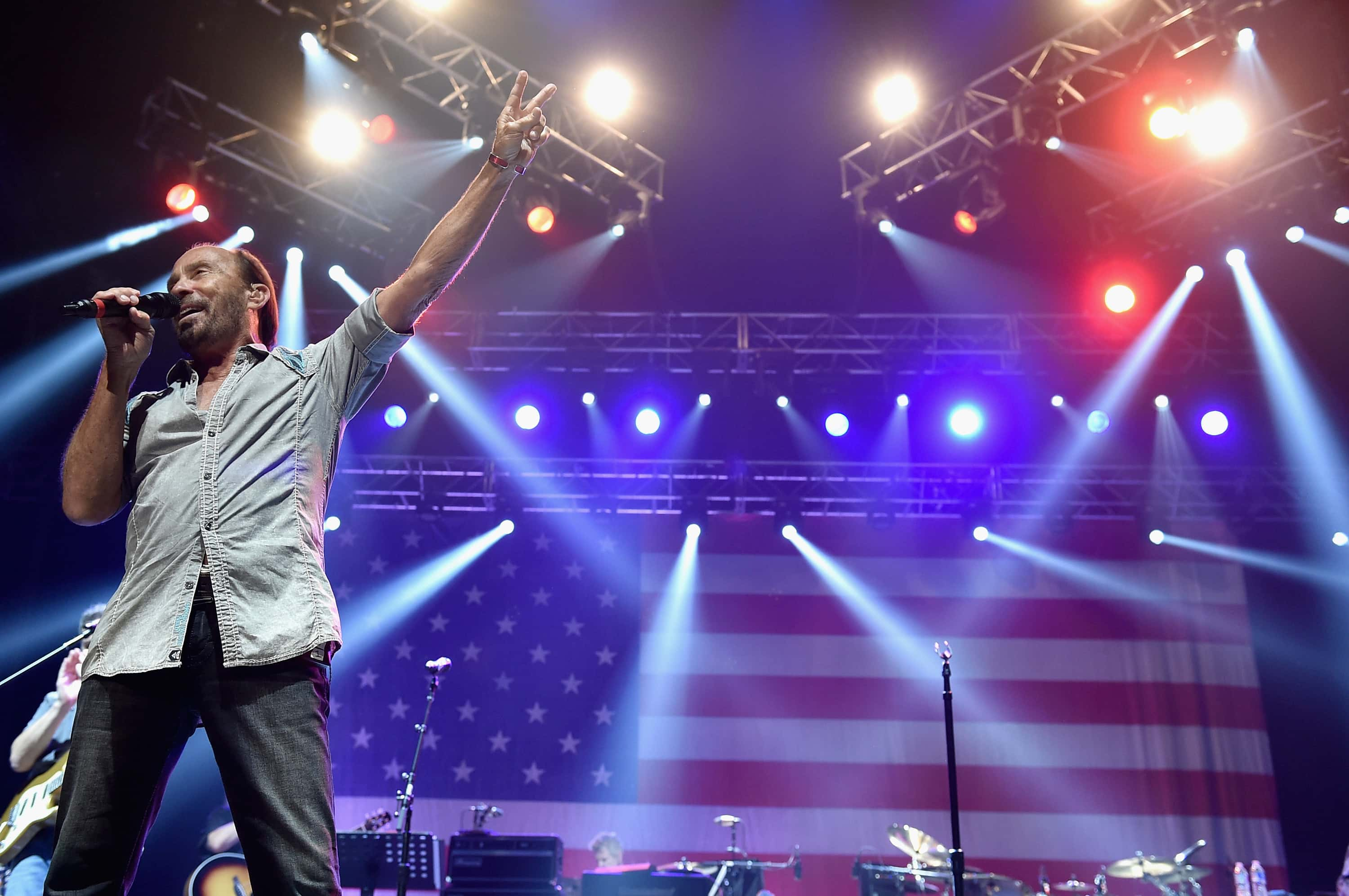 NASHVILLE, TN - AUGUST 12:  Lee Greenwood performs at the Charlie Daniels 2015 Volunteer Jam at Bridgestone Arena on August 12, 2015 in Nashville, Tennessee.  (Photo by John Shearer/Getty Images for Webster Public Relations)