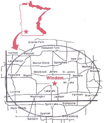 KDOM map
