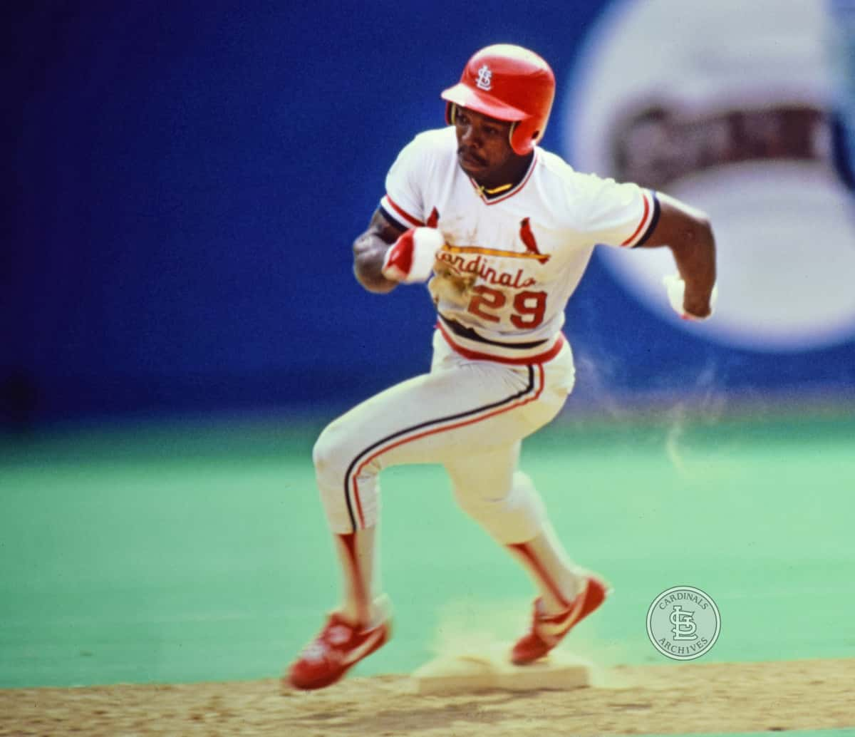 Action shot of Vince Coleman