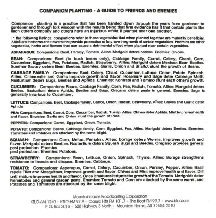 Companion Planing
