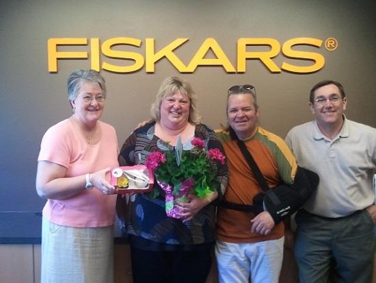 Bob Bonner with the folks at Fiskars Brands