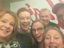 Six people, one selfie: Ginger, Raina, Lanette, Pat, Kathryn, and Jim