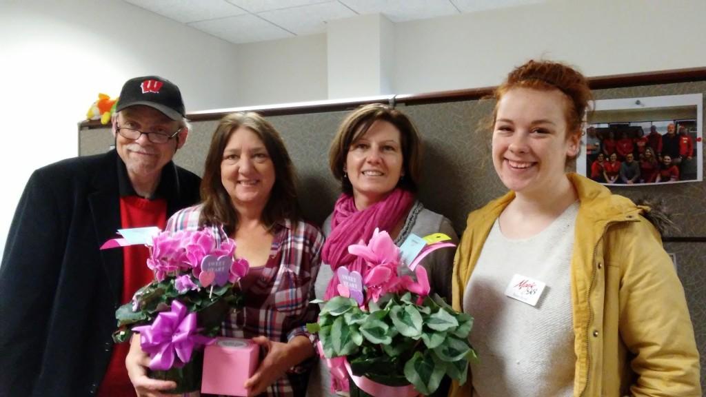 Jim, Karen Bergan, Cindy Dobrinsky, and Raina at USDA Farm Service Agency