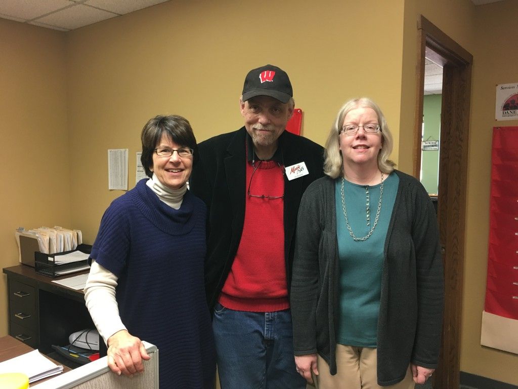 Cindy Jorgensen, Jim, and Diane Lehman at Integrity Residential Services
