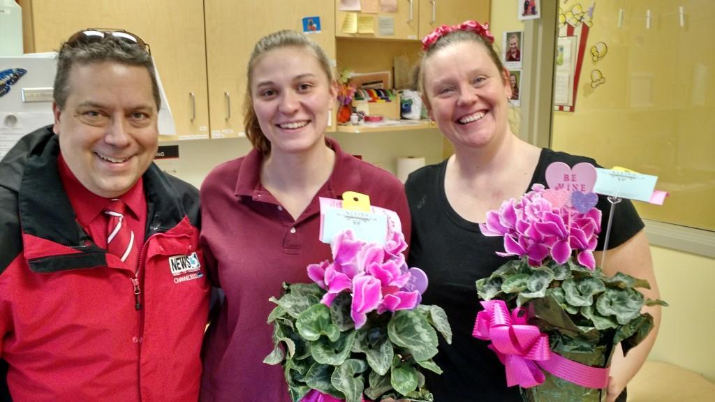 Gary with Cheyenne Rhinehart and Maxine Elliott @ the Goddard School in Verona