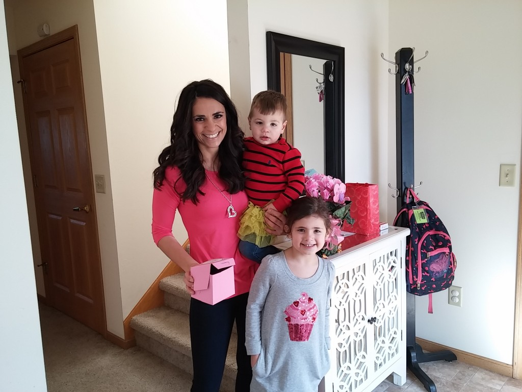 Leah Burns at home in McFarland with Olivia and Jack